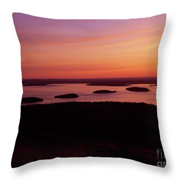 Acadia National Park Maine - Frenchman Bay Throw Pillow by Erin Paul Donovan