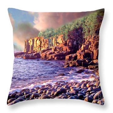 Acadia National Park Throw Pillow