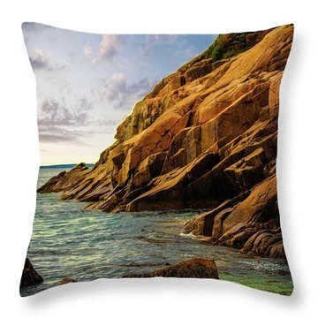 Acadia National Park--maine Throw Pillow by Sherman Perry