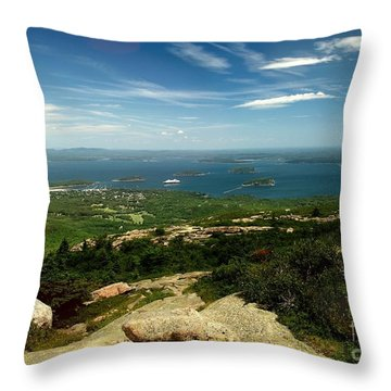 Throw Pillow featuring the photograph Acadia by Raymond Earley