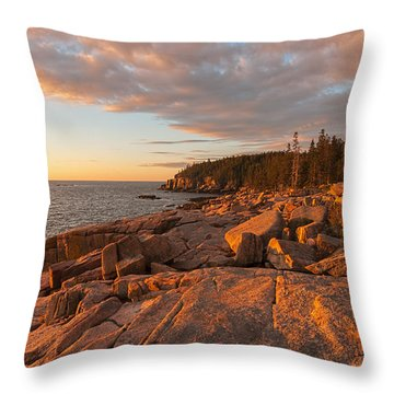 Acadia Sunrise Throw Pillow by Sharon Seaward