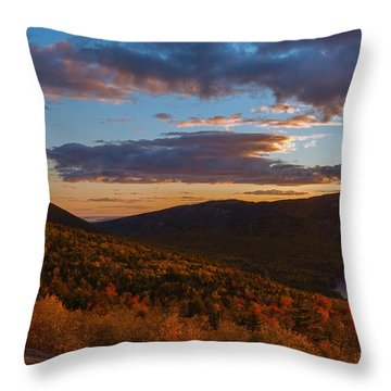 Acadia Sunset Throw Pillow