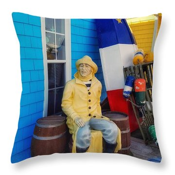 Acadian Fisherman, Prince Edward Island, Canada Throw Pillow