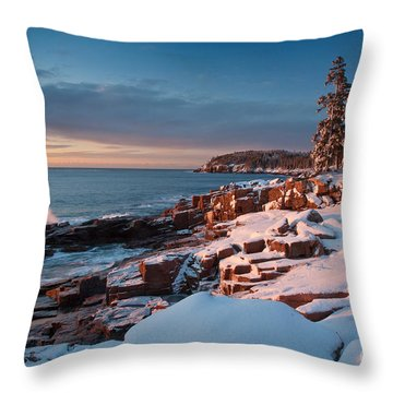 Acadian Winter Throw Pillow