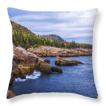 Acadia's Coast Throw Pillow
