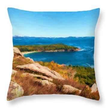 Acadia's Sand Point Throw Pillow