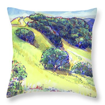 Throw Pillow featuring the painting Acalanes Ridge, Lafayette, Ca by Judith Kunzle