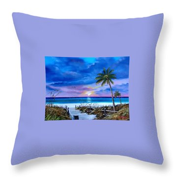 Access To The Beach Throw Pillow