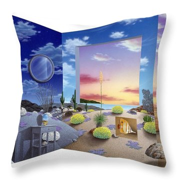 Accidental Meeting Throw Pillow by Snake Jagger