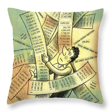 Accounting And Bookkeeping Throw Pillow