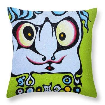 Ace Kid Mark Throw Pillow