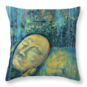 Ace Of Coins Throw Pillow by Ashley Kujan