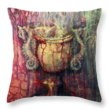 Ace Of Cups Throw Pillow by Ashley Kujan