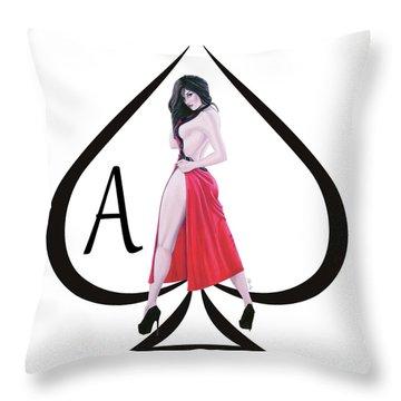 Ace Of Spades3 Throw Pillow