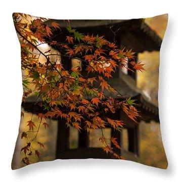 Acer Pagoda Throw Pillow