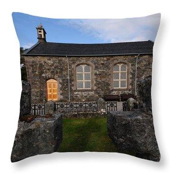 Acharacle Church Throw Pillow