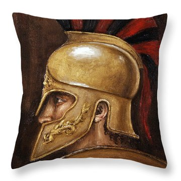 Achilles Throw Pillow by Arturas Slapsys