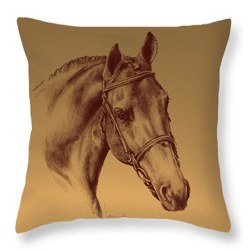 Achilles Throw Pillow by Laurie Musser
