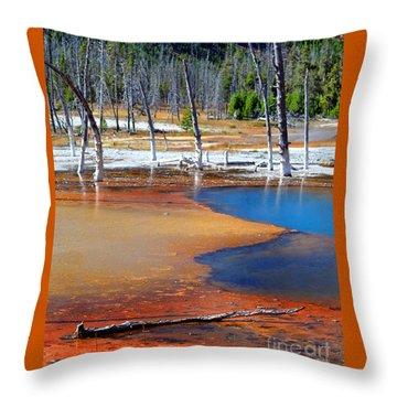 Acid Soup Yellowstone Throw Pillow