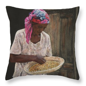 Acklins Corn Throw Pillow