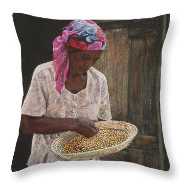 Acklins Corn Throw Pillow