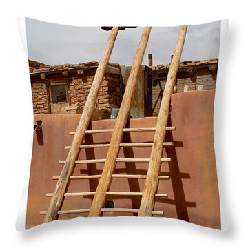 Acoma Ladder Throw Pillow