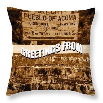 Acoma Pueblo New Mexico Custom Pc Throw Pillow