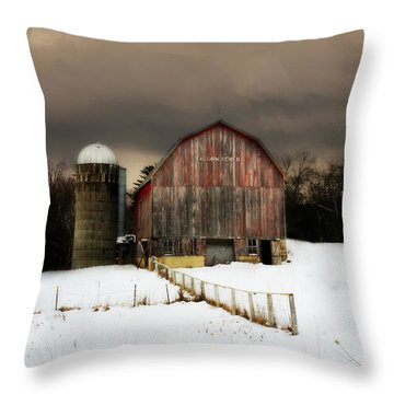 Throw Pillow featuring the photograph Acorn Acres by Julie Hamilton