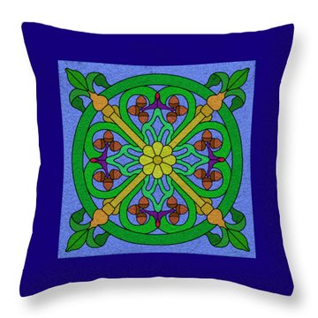 Acorn On Blue Throw Pillow