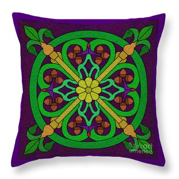 Acorn On Dark Purple 2 Throw Pillow