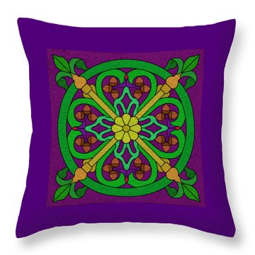 Acorn On Dark Purple Throw Pillow