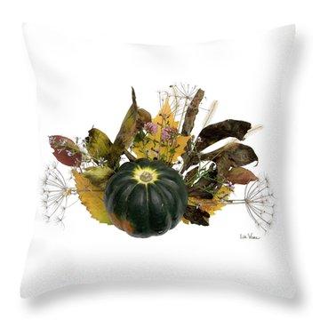 Acorn Squash Bouquet Throw Pillow by Lise Winne