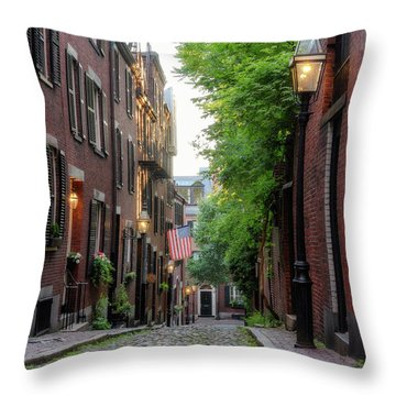 Throw Pillow featuring the photograph Acorn St. 1 by Michael Hubley