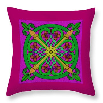 Acorns On Hot Pink Throw Pillow