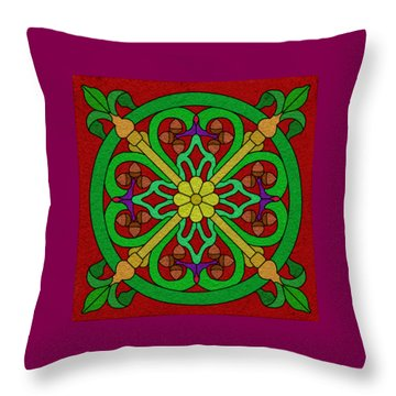 Acorns On Red Throw Pillow