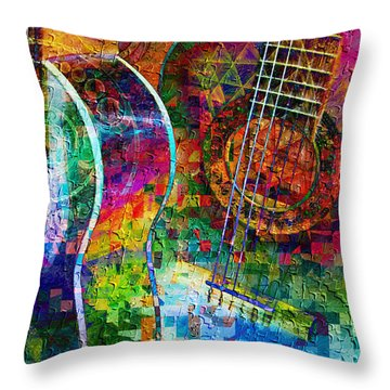 Acoustic Cubed Throw Pillow