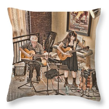 Acoustic Jazz Throw Pillow