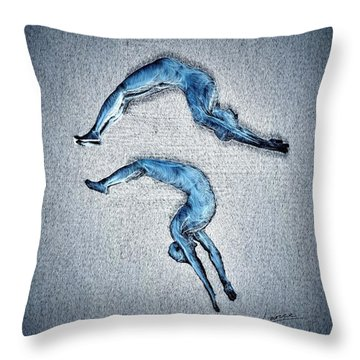 Acrobatic Gesture Throw Pillow