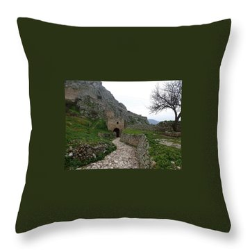 Acrokorinth Throw Pillow