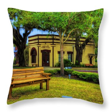 Across From City Hall Throw Pillow