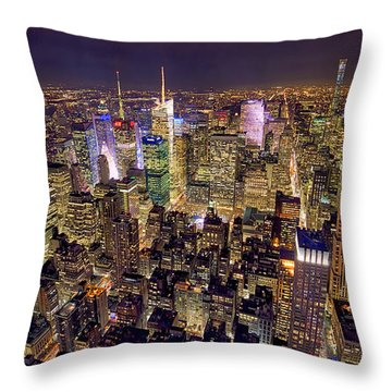 Across Manhattan Throw Pillow