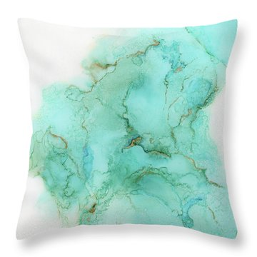 Across The Blue Sky Throw Pillow