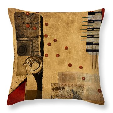 Across The Board Throw Pillow by Carol Leigh