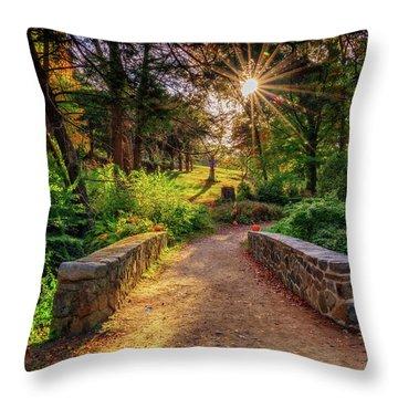Throw Pillow featuring the photograph Across The Bridge by Rick Berk