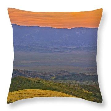Across The Carrizo Plain At Sunset Throw Pillow
