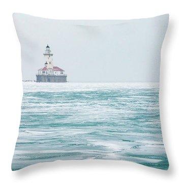 Across The Frozen Lake Throw Pillow