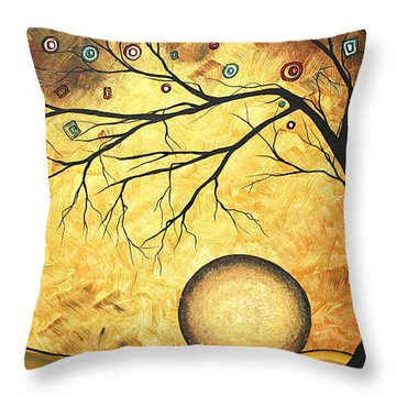 Across The Golden River By Madart Throw Pillow by Megan Duncanson