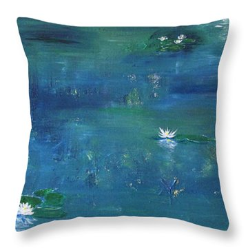 Across The Lily Pond Throw Pillow