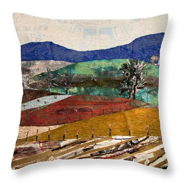 Across The Meadow Throw Pillow