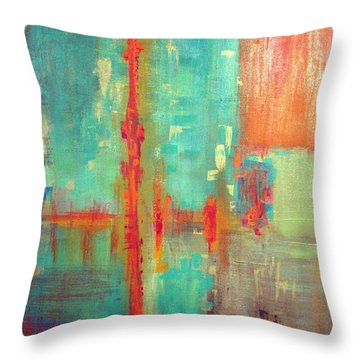 Across The Park Throw Pillow